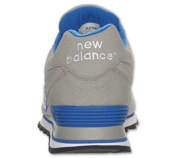 New Balance 574 Suede – Gris – Azul – Rojo, Zapas News