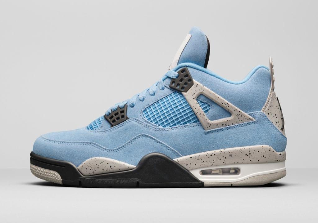 "Air Jordan 4 ""University Blue"" en honor A la UNC, Zapas News"