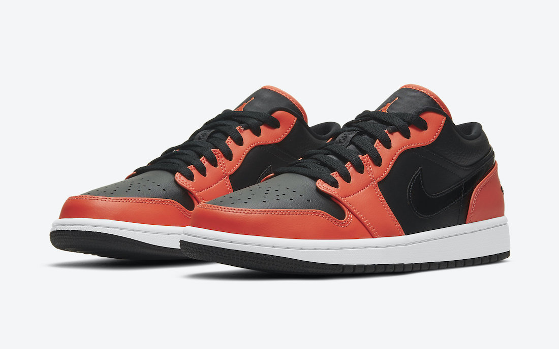 Air Jordan 1 Low SE negro naranja