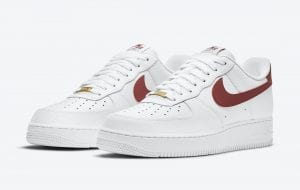 "Nike Air Force 1 Low ""Team Red"" Con Textura De Balón De Basket"