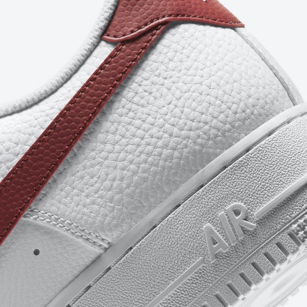 """Nike Air Force 1 Low """"Team Red"""" con textura de balón de basket, Zapas News"""