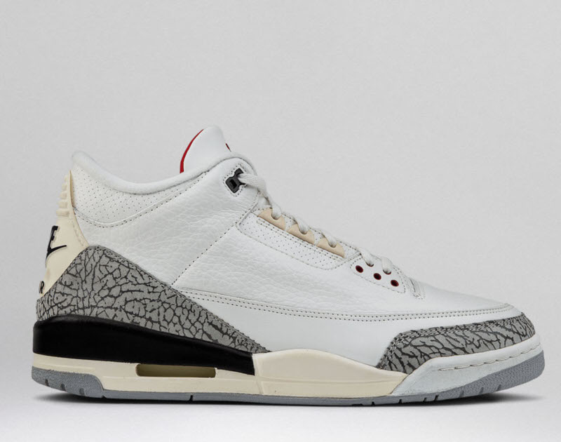 air jordan 3 white cement zapas news