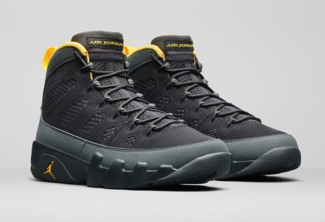 Zapas News Air Jordan 9 Dark Charcoal Gold