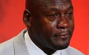 michael jordan llorando