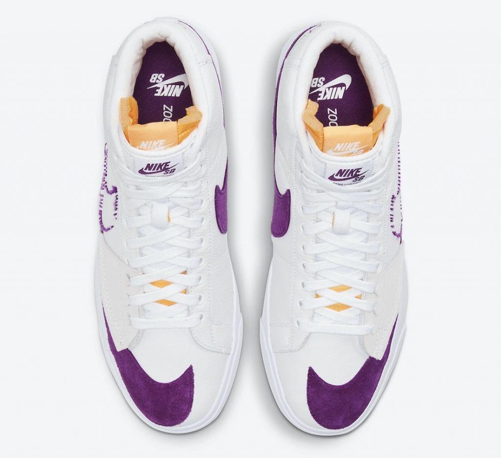 Nike SB Blazer Mid Edge en colores de los Lakers, Zapas News