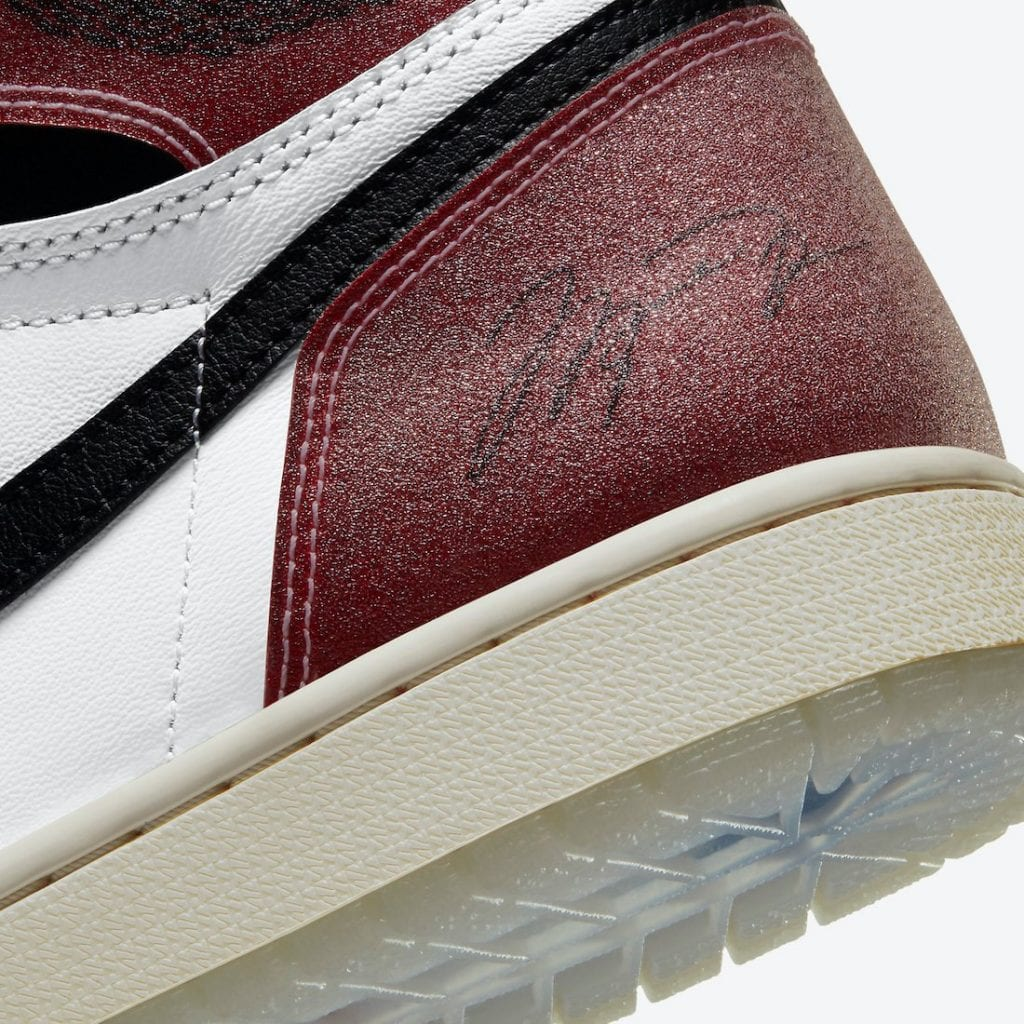 The Trophy Room x Air Jordan 1 High OG inspired by the original 'Chicago' pair will release during 2021. This collaboration appears to be inspired by the 1985 All-Star Game known as the 'Freezeout' game. Certain elements from the shoe directly point to the East jerseys. Featuring a White, Varsity Red, Sail, and Black color combination. Looking closer, this Air Jordan 1 resembles the classic 'Chicago' pair, but with a luxurious theme. Red leather covers the overlays with a subtle glittery finish. Following, we have White leather on the base and Black leather on the Swoosh and ankle. Towards the heel, we have Michael Jordan's signature. Just above it, the Wings logo features Black while Nike Air hits the tongue. Trophy Room's logo comes sewn on the insoles that tie the collaboration together. Lastly, a translucent outsole showing Blue and Red stars that also connects to the 1985 All-Star Game. Trophy Room Air Jordan 1 Chicago Release Details You can expect the Trophy Room x Air Jordan 1 High OG to release online and in-store at Trophy Room on February 10th, 2021. The retail price is $170. For a detailed look, scroll below. Trophy Room x Air Jordan 1 High OG Color: White/Varsity Red-Sail-Black Release Date: February 10, 2021 Style Code: DA2728-100 Price: $170