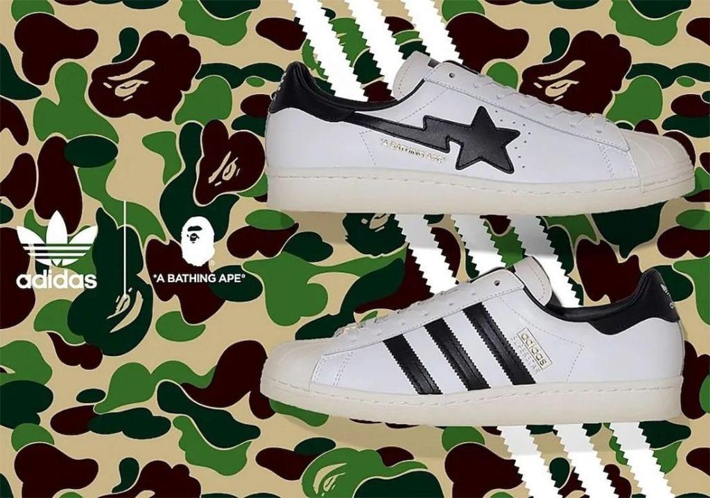 Bape X Adidas Superstars A La Vista