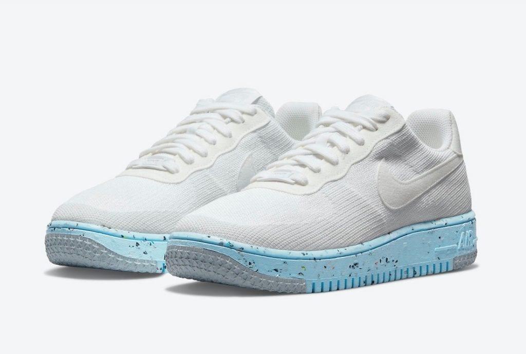 Nike Air Force 1 Crater Flyknit En Blanco Y Con Materiales Reciclados