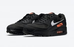 Nike Air Max 90 En Los Colores Negro Y Naranja