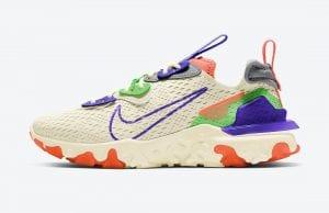 Nike React Vision En Beige Y Con Acentos Llamativos