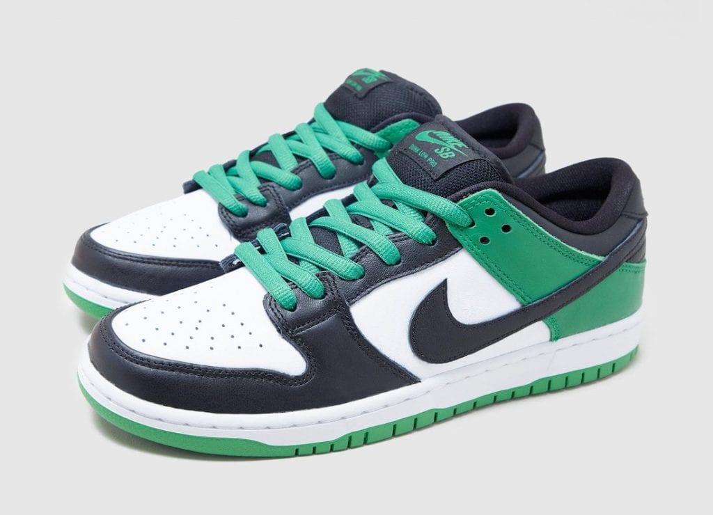 nike sb dunk low classic green en verde