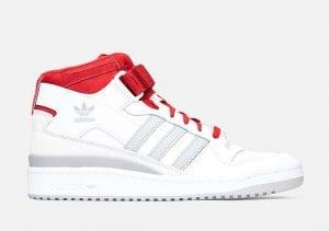 Adidas Forum Mid En Blanco, Gris Y Rojo