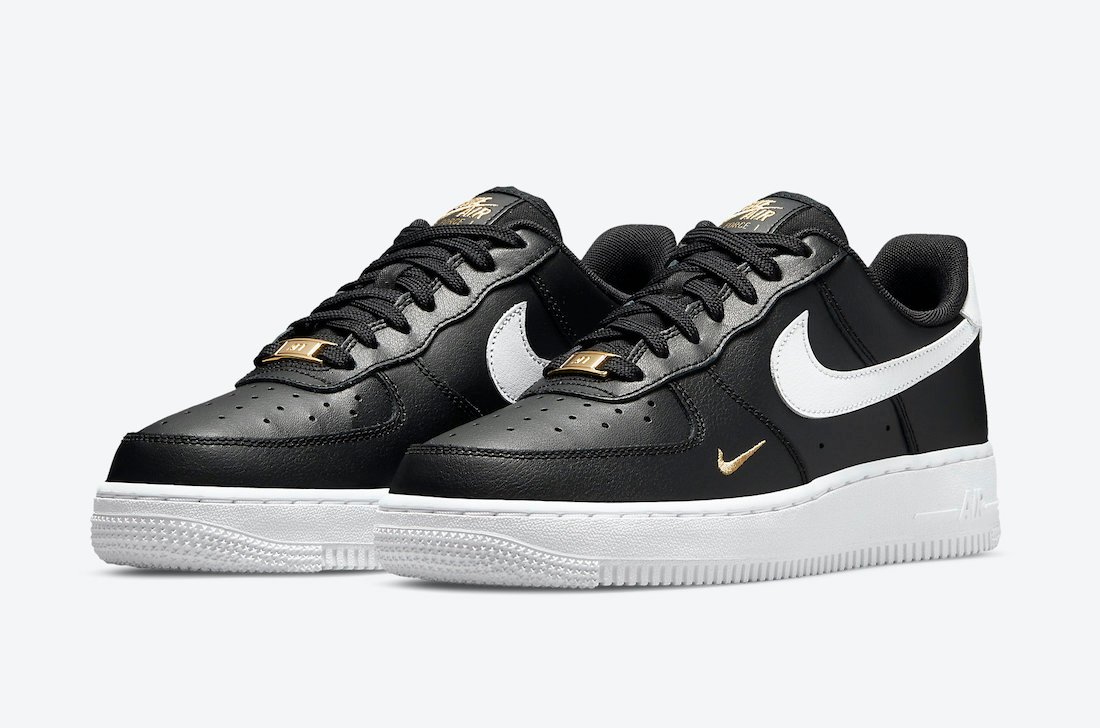 Nike Air Force 1 Low En Negro, Blanco Y Dorado