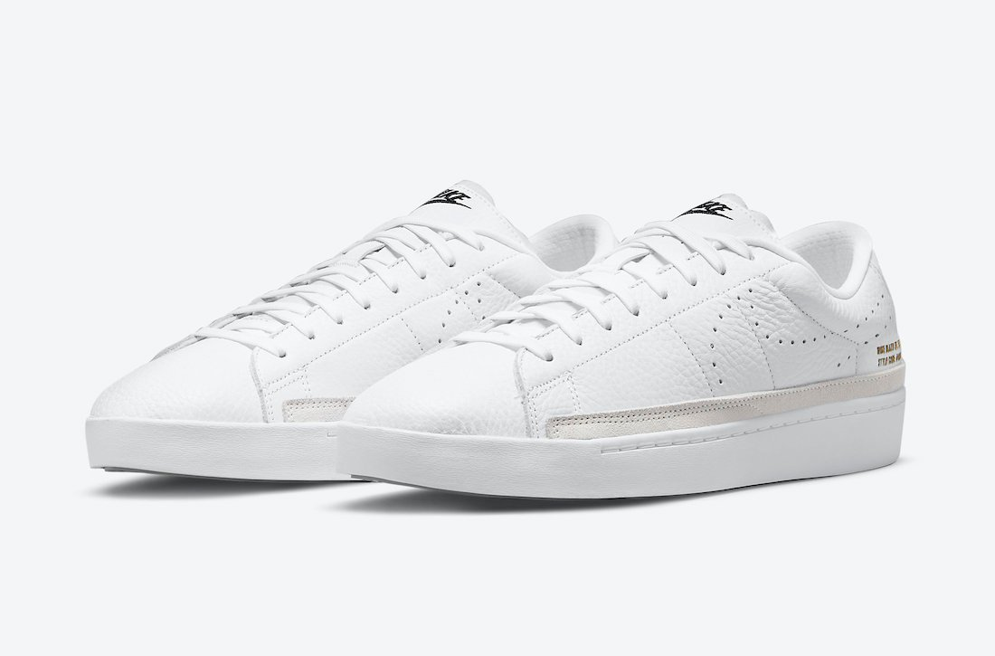 Nike Blazer Low X 'White Gum' Con El Swoosh Perforado