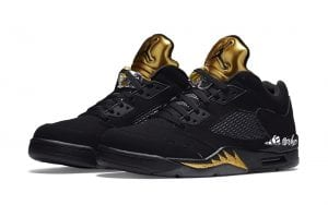 air jordan 5 low black metallic gold