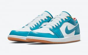 Otras Air Jordan 1 Low En Azul Claro Charol Y Blancas