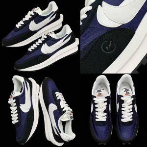 "fragment x sacai x Nike LDWaffle ""Blue Void"""