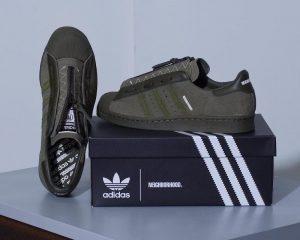"Neighborhood X Adidas Superstar 80s ""Olive Green"""