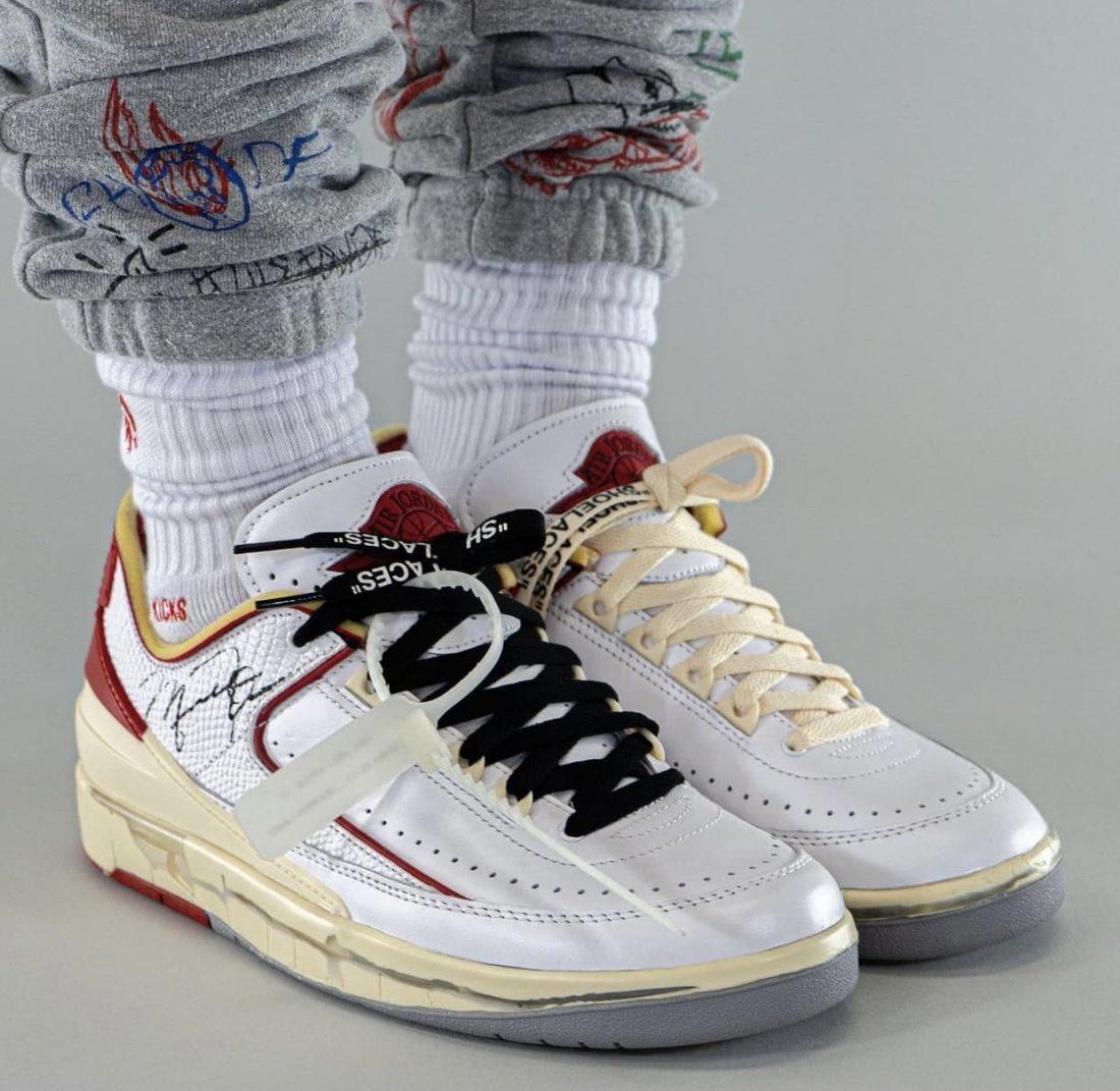 "Off-White X Air Jordan 2 Low ""White/Red"""