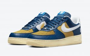 """Undefeated x Nike Air Force 1 Low """" 5 On It """" Blue Croc"""