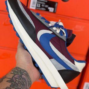 Undercover x sacai x Nike LDWaffle Night Maroon
