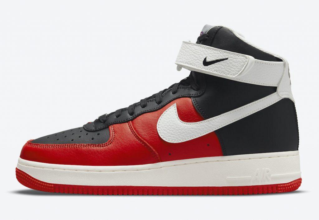 Otras NBA x Nike Air Force 1 High «75th Anniversary» en color negro y rojo a la vista, Zapas News