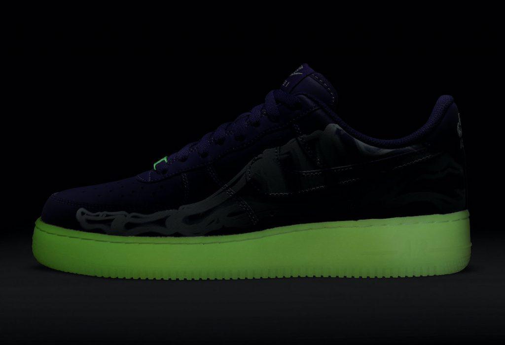 Nuevas Nike Air Force 1 Skeleton para Halloween 2021, Zapas News