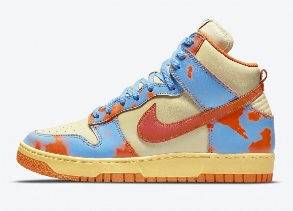 imágenes oficiales de las Nike Dunk High 1985 «Orange Acid Wash», Zapas News