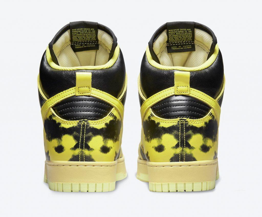 Las Nike Dunk High 1985 «Yellow Acid Wash» en imágenes oficiales, Zapas News