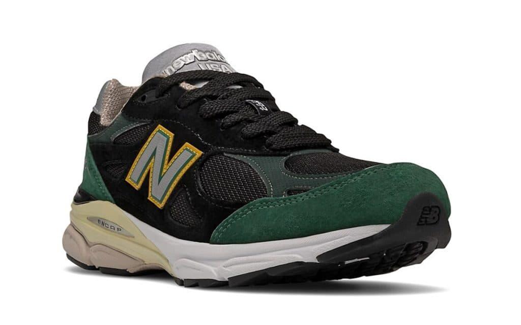"Otras New Balance 990v3 "" Black Green Gold "" a la vista, Zapas News"