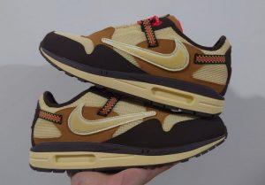 Travis Scott x Nike Air Max 1 Baroque Brown
